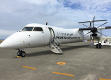久米島空港 RAC 新型飛行機Q4000CC q4000cc