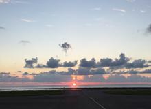 久米島空港 夕陽 夕日