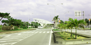 久米島空港入口