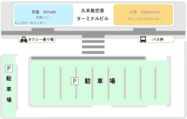 久米島空港 駐車場 パーキング MAP