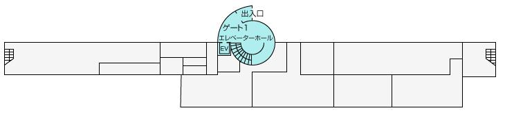 久米島空港ターミナル案内 地下1階 ゲート2