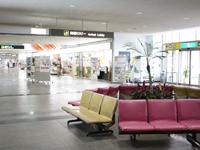 久米島空港 到着ロビー お出迎え