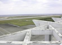 久米島空港滑走路