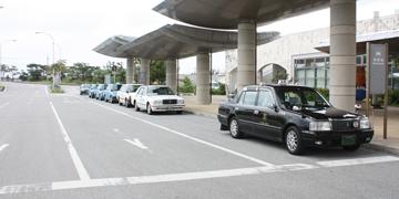久米島空港タクシー乗り場